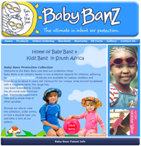 Baby Banz home page